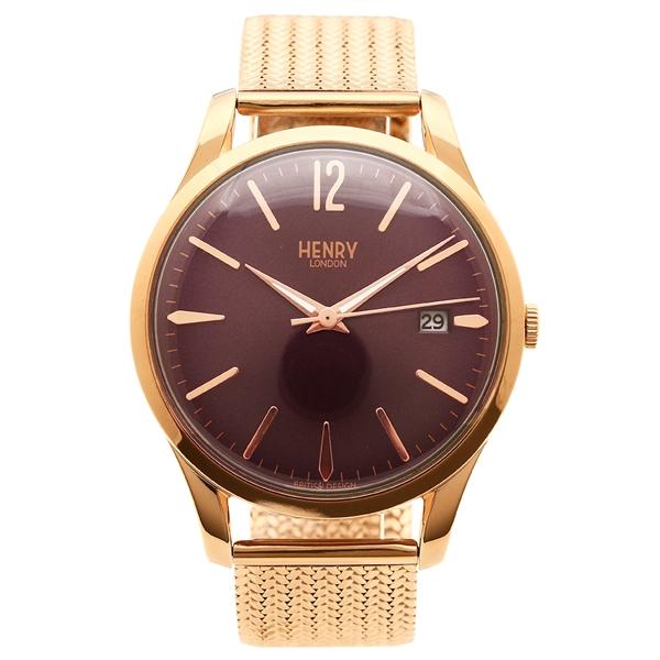 【返品OK】ヘンリーロンドン 腕時計 レディース メンズ HENRY LONDON HL39M0078 ピンクゴールド パープル