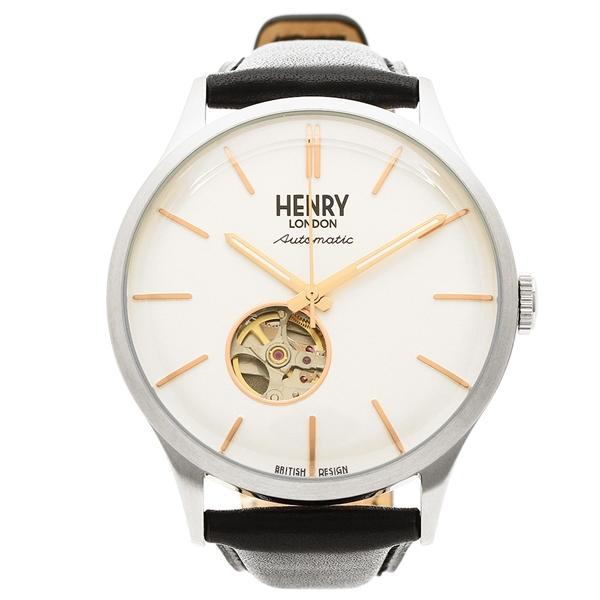 【返品OK】ヘンリーロンドン 腕時計 メンズ HENRY LONDON HL42-AS-0279 ブラック シルバー