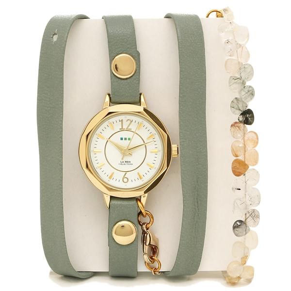 【2時間限定ポイント10倍】ラメール コレクションズ 腕時計 レディース LA MER COLLECTIONS LAMER804 グリーン ゴールド ホワイト