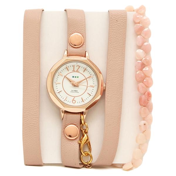 【2時間限定ポイント10倍】ラメール コレクションズ 腕時計 レディース LA MER COLLECTIONS LAMER806 ピンク ゴールド ホワイト