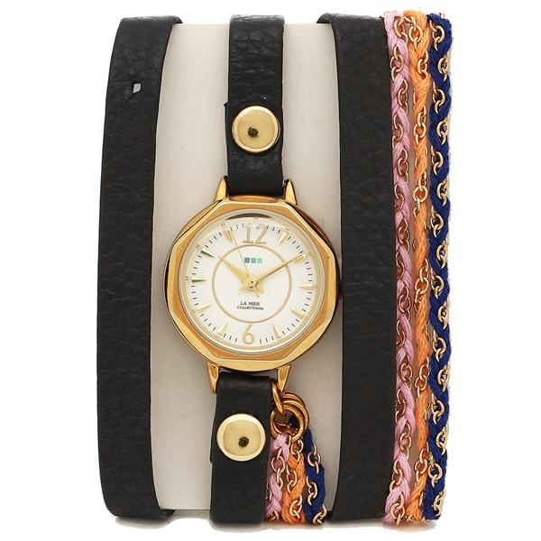 ラメール コレクションズ 腕時計 レディース LA MER COLLECTIONS LMDEL1004 ブラック ゴールド ホワイト