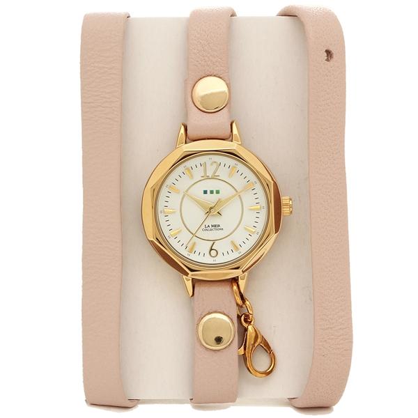 【2時間限定ポイント10倍】ラメール コレクションズ 腕時計 レディース LA MER COLLECTIONS LMDEL204 ピンク ゴールド ホワイト