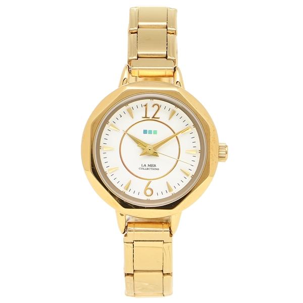 ホワイト ラメール COLLECTIONS コレクションズ 腕時計 MER LMDELMAR001 イエローゴールド レディース LA