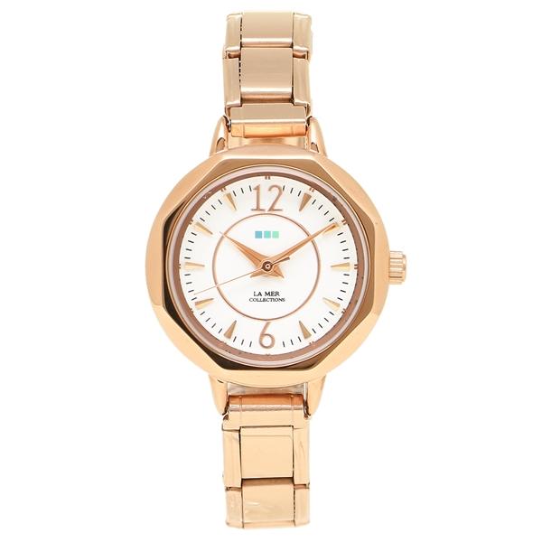 ラメール コレクションズ 腕時計 レディース LA MER COLLECTIONS LMDELMAR002 ピンクゴールド ホワイト