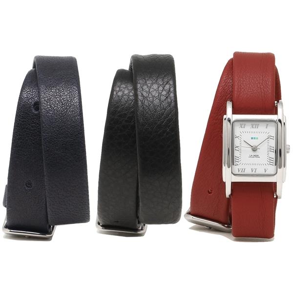 ホワイト ラメール ネイビー ブラック コレクションズ COLLECTIONS 腕時計 LA シルバー ダークレッド LMGBUENI002 レディース MER
