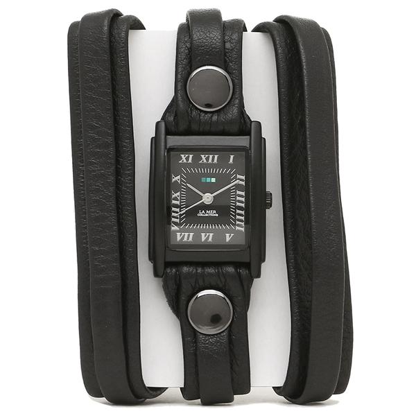 ラメール コレクションズ 腕時計 レディース LA MER COLLECTIONS LMLW7011 ブラック