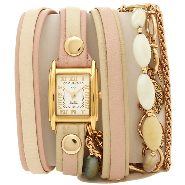 ラメール コレクションズ 腕時計 レディース LA MER COLLECTIONS LMMULTI1008 ピンク ゴールド ホワイト