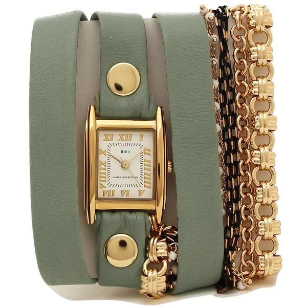 【2時間限定ポイント10倍】ラメール コレクションズ 腕時計 レディース LA MER COLLECTIONS LMMULTI1563 グリーン ゴールド ホワイト