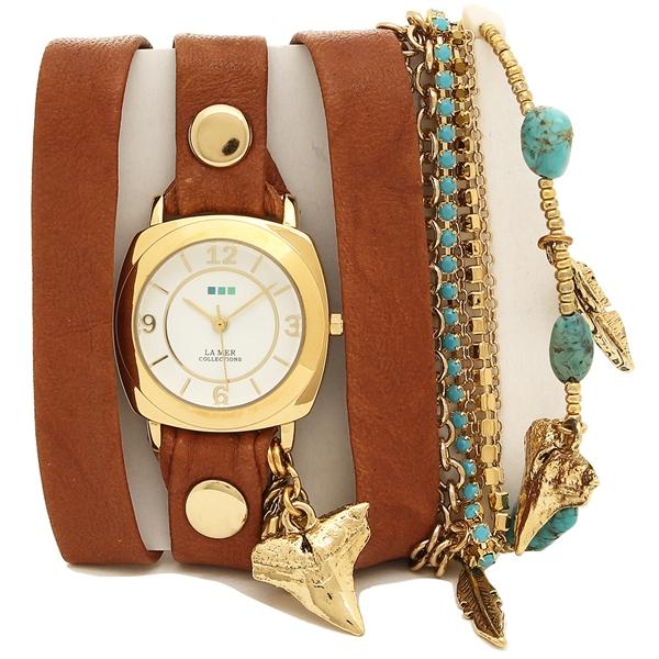 【返品OK】ラメール コレクションズ 腕時計 レディース LA MER COLLECTIONS LMMULTI2005 ブラウン ゴールド ホワイト