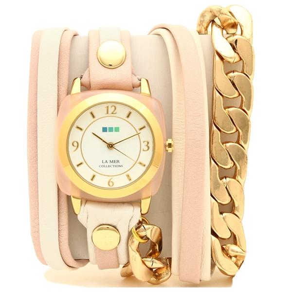 【2時間限定ポイント10倍】ラメール コレクションズ 腕時計 レディース LA MER COLLECTIONS LMMULTIACE002 ピンク ゴールド ホワイト