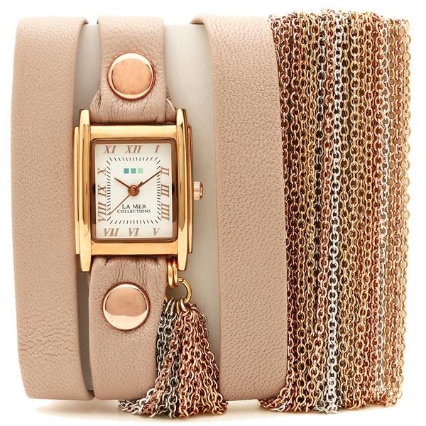 【2時間限定ポイント10倍】ラメール コレクションズ 腕時計 レディース LA MER COLLECTIONS LMMULTICW3001A ピンク ゴールド ホワイト