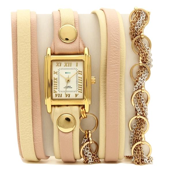 【返品OK】ラメール コレクションズ 腕時計 レディース LA MER COLLECTIONS LMSCW6004-BB ピンク ゴールド ホワイト