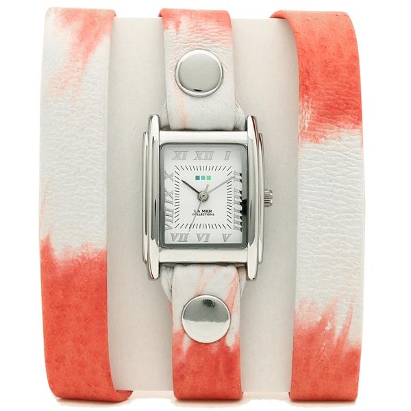 【2時間限定ポイント10倍】ラメール コレクションズ 腕時計 レディース LA MER COLLECTIONS LMSTWLIMITED7003 レッド シルバー ホワイト