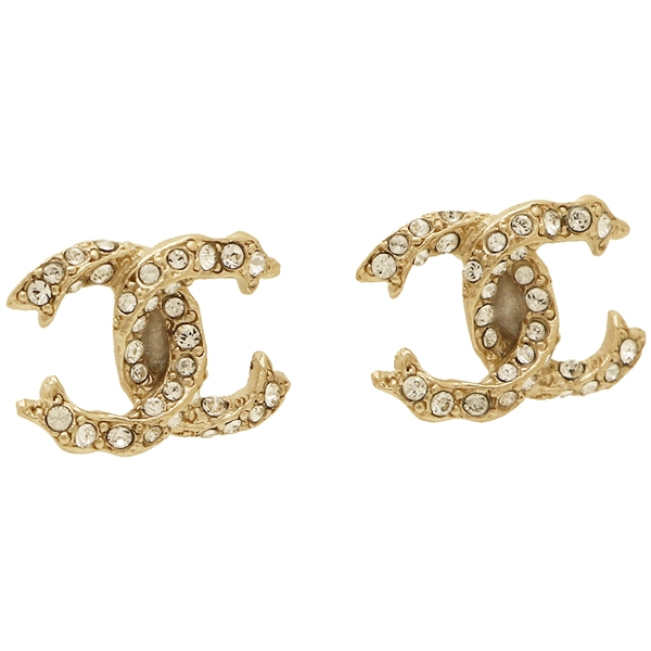 a3d85d82bb2d4 Chanel pierced earrings accessories accessories CHANEL A99180 Y02003 Z2800  clear gold ...