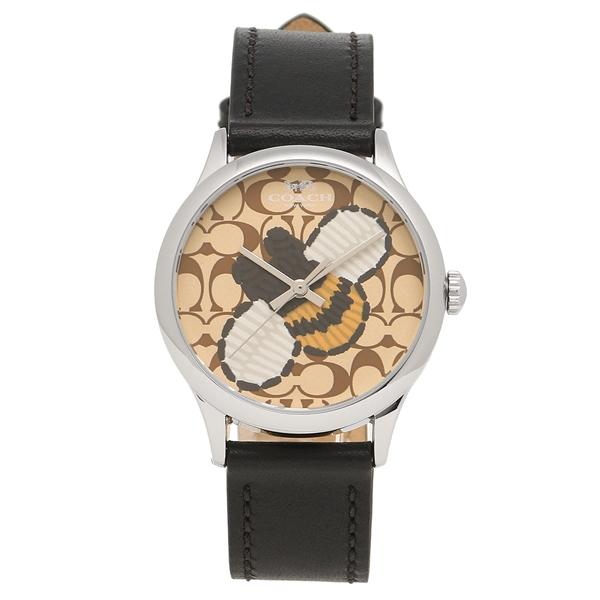 【4時間限定ポイント5倍】コーチ 腕時計 レディース アウトレット COACH W1546 BK/KH ブラック カーキ