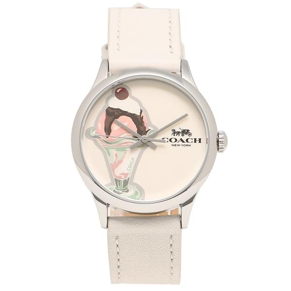 【24時間限定ポイント5倍】コーチ 腕時計 レディース アウトレット COACH W1546 CHK ホワイト
