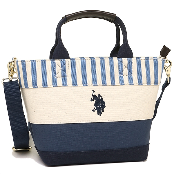 US polo tote bag shoulder bag Lady s US POLO ASSN US-2511 navy off-white 2ee7622d00