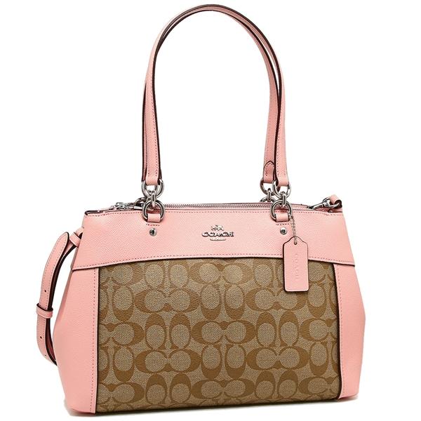 Coach Tote Bag Shoulder Outlet Lady S F25396 Svn3x Khaki Pink