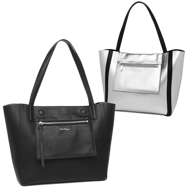 ab1fa552e852 Ferragamo tote bag Lady s Salvatore Ferragamo 21G865 0686480 007 black    silver