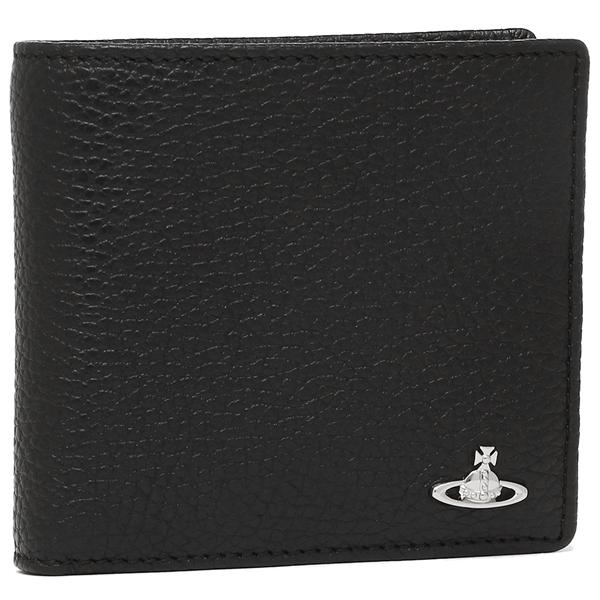 ヴィヴィアンウエストウッド 折財布 メンズ VIVIENNE WESTWOOD 51010016 40324 ブラック