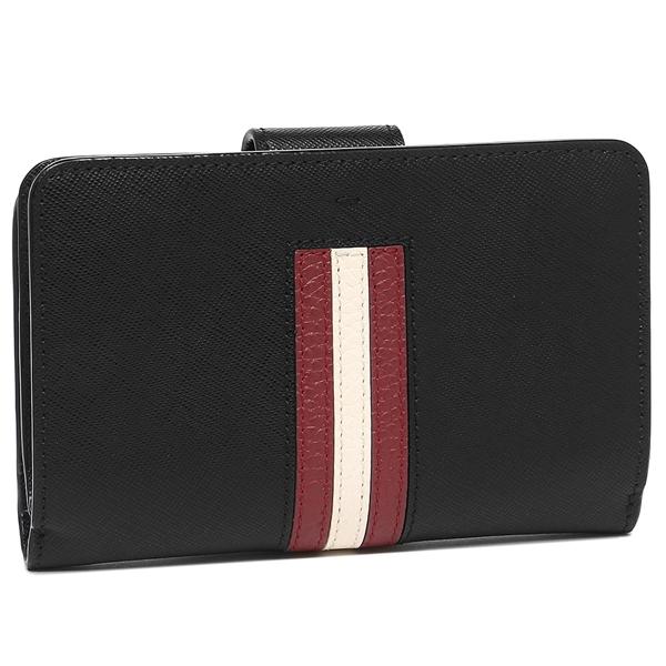 バリー二つ折り財布レディースBALLY6219287100ブラック