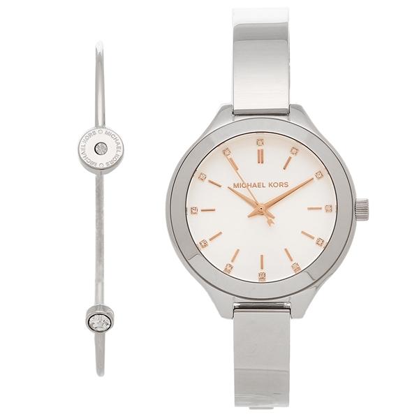 【2時間限定ポイント10倍】マイケルコース 腕時計 レディース ブレスレットセット MICHAEL KORS MK3596 シルバー/ホワイト