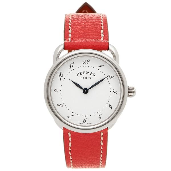 【4時間限定ポイント5倍】エルメス 腕時計 レディース HERMES AR5.210.130/OOA5 038467WW00 ピンク シルバー ホワイト
