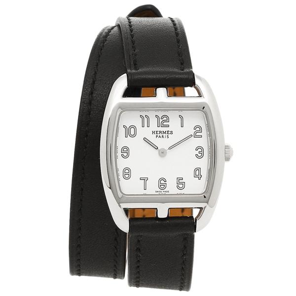 【4時間限定ポイント5倍】エルメス 腕時計 レディース HERMES CT1.210.130/VBN1 ブラック シルバー ホワイト