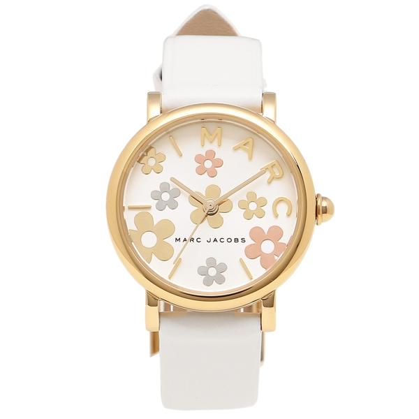 【2時間限定ポイント10倍】マークジェイコブス 腕時計 レディース MARC JACOBS MJ1607 ホワイト イエローゴールド シルバー