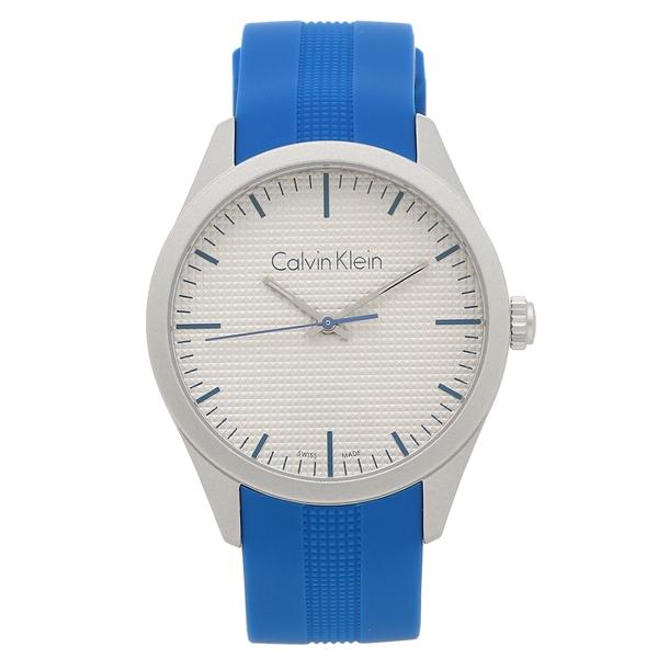 【返品OK】カルバンクライン 腕時計 メンズ CALVIN KLEIN K5E51FV4 ブルー シルバー