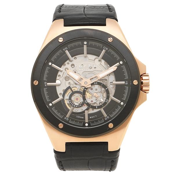 フルボデザイン 腕時計 メンズ Furbo design F2501PBKBK ブラック ピンクゴールド