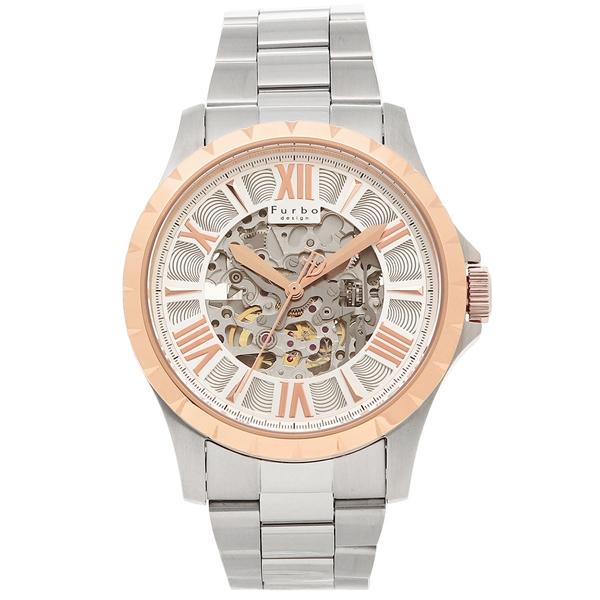 フルボデザイン 腕時計 メンズ Furbo design F5021PSISS シルバー ピンクゴールド