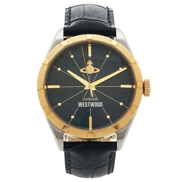 ヴィヴィアンウエストウッド 腕時計 メンズ VIVIENNE WESTWOOD VV192NVNV ネイビー イエローゴールド