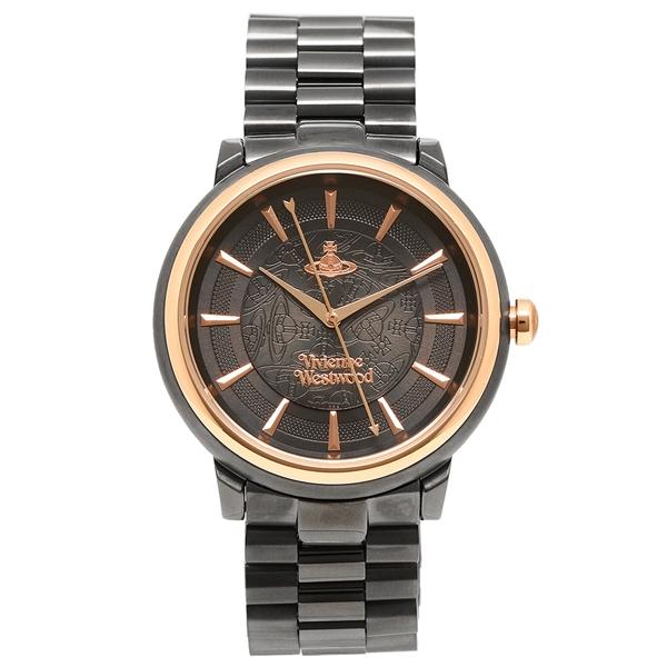 【24時間限定ポイント5倍】ヴィヴィアンウエストウッド 腕時計 レディース VIVIENNE WESTWOOD VV196GNGN ブラック ローズゴールド