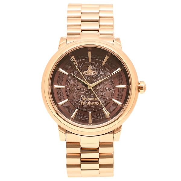 【返品OK】ヴィヴィアンウエストウッド 腕時計 レディース VIVIENNE WESTWOOD VV196RSRS レッドブラウン ローズゴールド