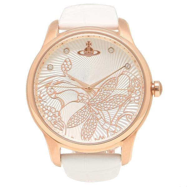 ヴィヴィアンウエストウッド 腕時計 レディース VIVIENNE WESTWOOD VV197RSWH ホワイト ローズゴールド
