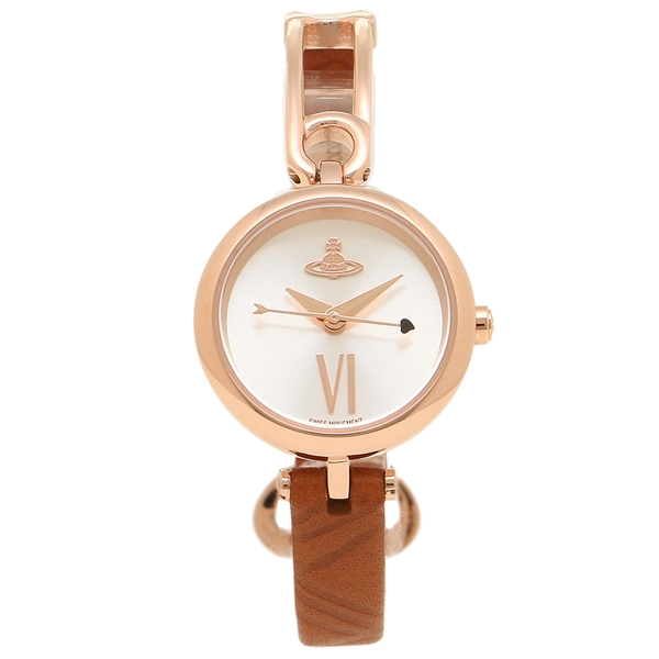【4時間限定ポイント10倍】ヴィヴィアンウエストウッド 腕時計 レディース VIVIENNE WESTWOOD VV200RSBR ブラウン ローズゴールド シルバー