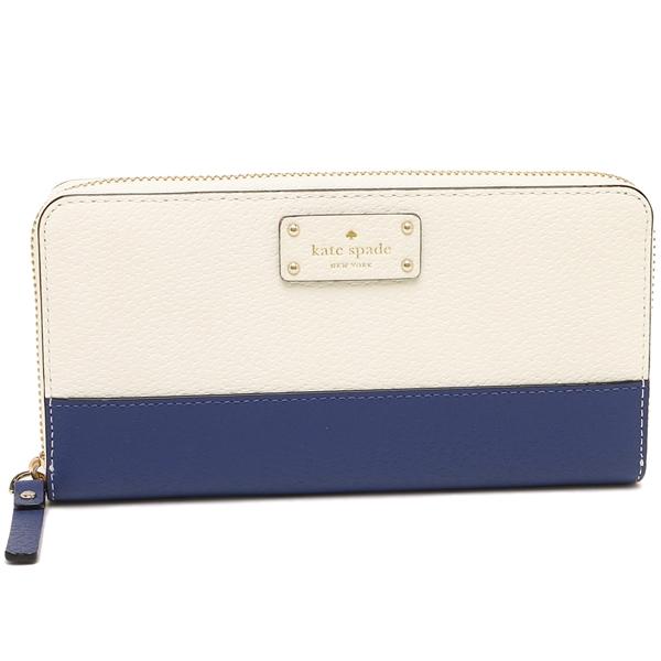 Kate Spade Long Wallet Lady S Outlet Wlru2821 423 Blue White