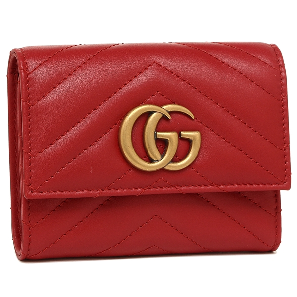 af73cc94ff1c Brand Shop AXES  Three Gucci fold wallet GUCCI 474802 DRW1T 6433 red ...