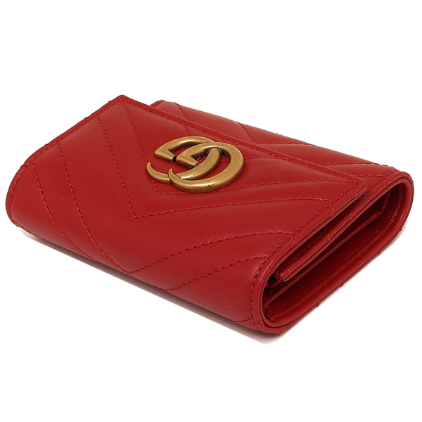 d11ed3bfdaea24 Brand Shop AXES: Three Gucci fold wallet GUCCI 474802 DRW1T 6433 red ...