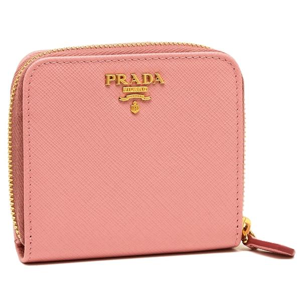 【4時間限定ポイント10倍】プラダ 折財布 レディース PRADA 1ML522 QWA F0442 ピンク