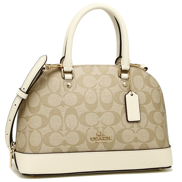 Coach Handbag Shoulder Bag Outlet Lady S F27583 Imdqc Light Khaki White