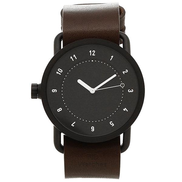 【72時間限定ポイント10倍】【返品OK】ティッドウォッチ 腕時計 メンズ/レディース TID01-BK/W ブラック ウォルナット TID Watches