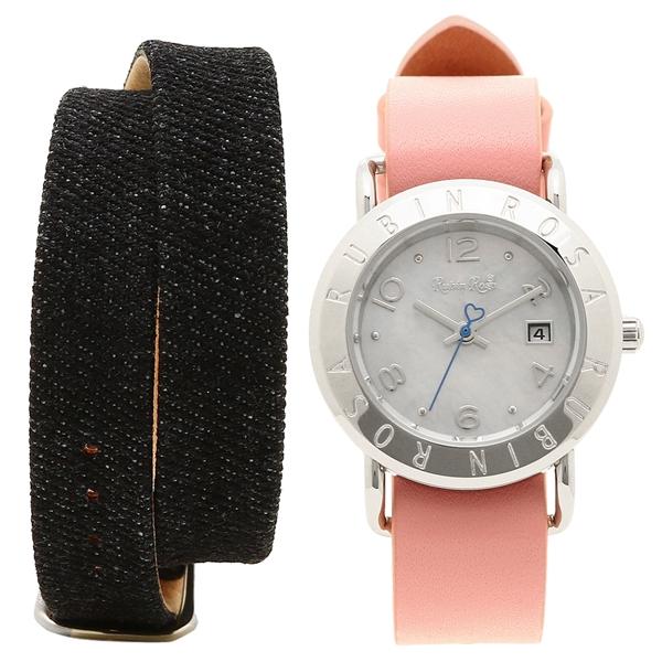 ルビンローザ 腕時計 レディース 替えベルト付き Rubin Rosa R601SWHPK ホワイト ピンク