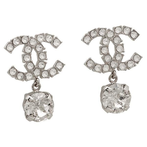 Chanel Pierced Earrings Accessories Lady S A58345 Y02003 Z5781 Clear Silver