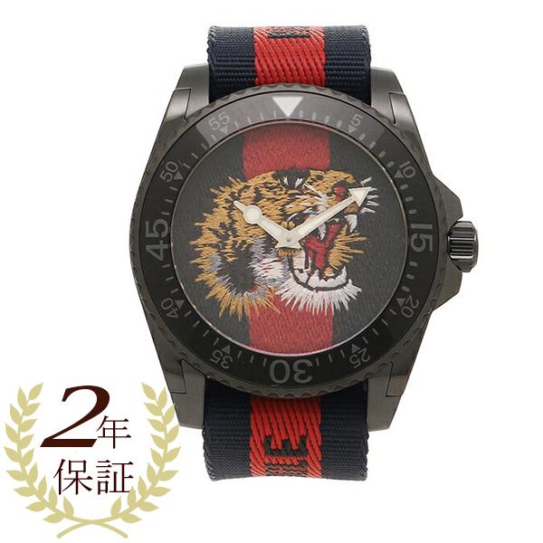 【2時間限定ポイント10倍】グッチ 腕時計 メンズ GUCCI YA136215 458986 I86P0 8746 ブルー レッド ブルーウェブ
