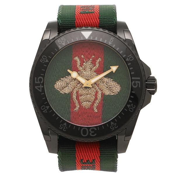 グッチ 腕時計 メンズ GUCCI YA136216 458987 I86P0 8766 グリーン レッド グリーンウェブ