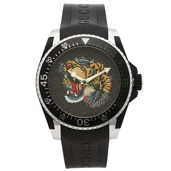 【期間限定ポイント5倍】【返品OK】グッチ 腕時計 メンズ GUCCI YA136318 464457 I16X0 8489 ブラック