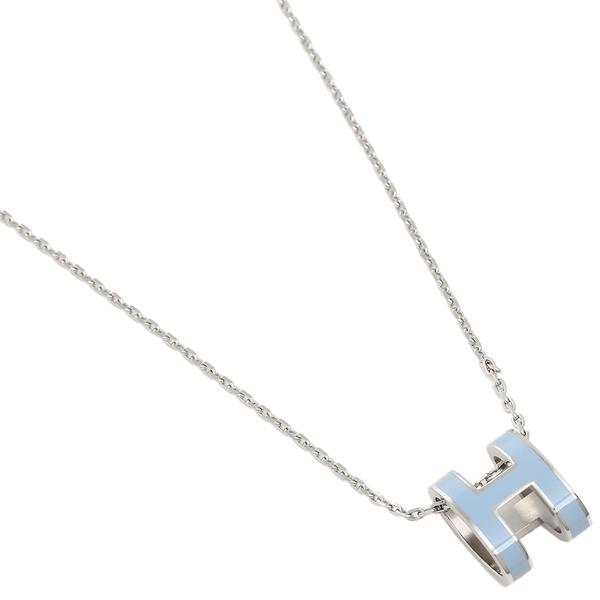 エルメス ネックレス アクセサリー レディース HERMES H147991FP 43 ブルー シルバー