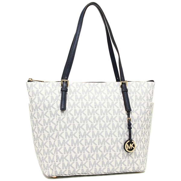 Michael Kors Tote Bag Outlet Lady S 35s8gttt9b Navy White